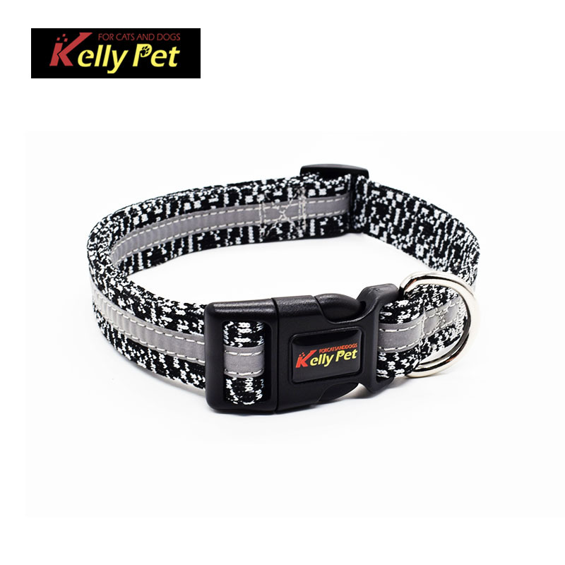 New Light-reflecting Pet Collar Dog Neck Ring Dog Hand Holding Rope Knit Fabric Kellypet Pet Supplies