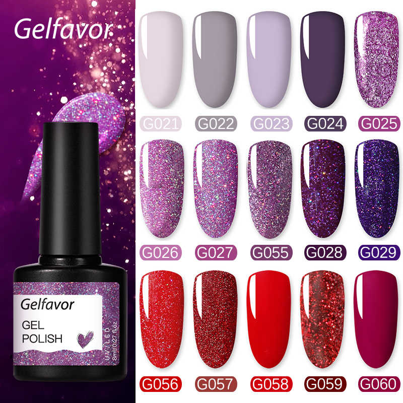 Gelfavor Uv Nail Gel 8Ml Voor Manicure Nail Set Kit Uv Led Base Top Coat Voor Schilderen Extension Nail art Gel Vernissen Lak