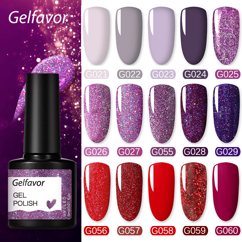Gelfavor UV Nail Gel 8ml For Manicure Nail Set Kit UV LED Base Top Coat For Painting Extension Nail Art Gel Varnishes Lacquer(China)