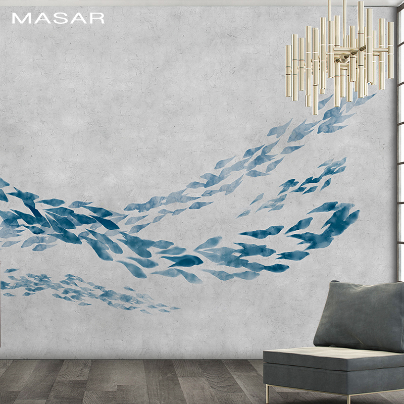 MASAR Chinese Traditional Meaning More Than A Year Of Design Elements Custom Mural Living Room Dining Room Study Wallpaper Fish