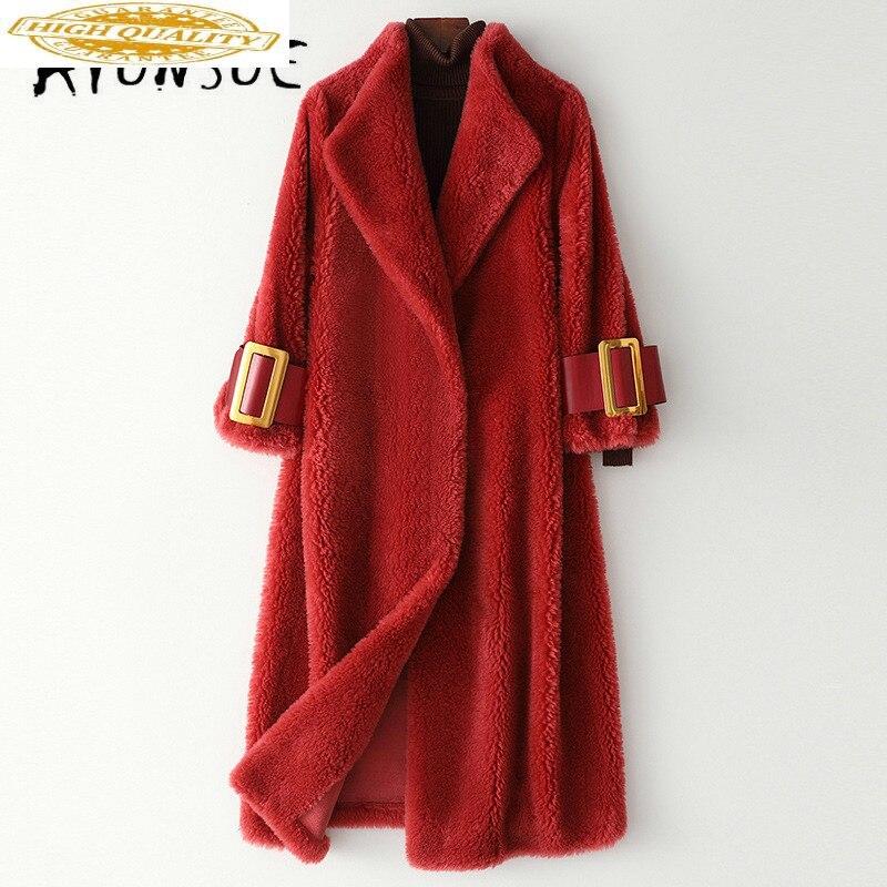 Real Fur Coat Women Winter Coat Women Real Fur Jacket Korean 100% Wool Jacket Sheep Shearing Warm Coat HQ19-ZZH1983C YY1832