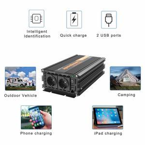 Image 5 - EDECOA power inverter 12V 220V 1500W pure sine wave 12V to AC 220V 230V off grid converter with remote control