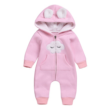 2019 New Baby Romper Autumn Winter Boy Girl Clothes Born Jumpsuit Warm Comfortable Cotton Hooded Overalls for children