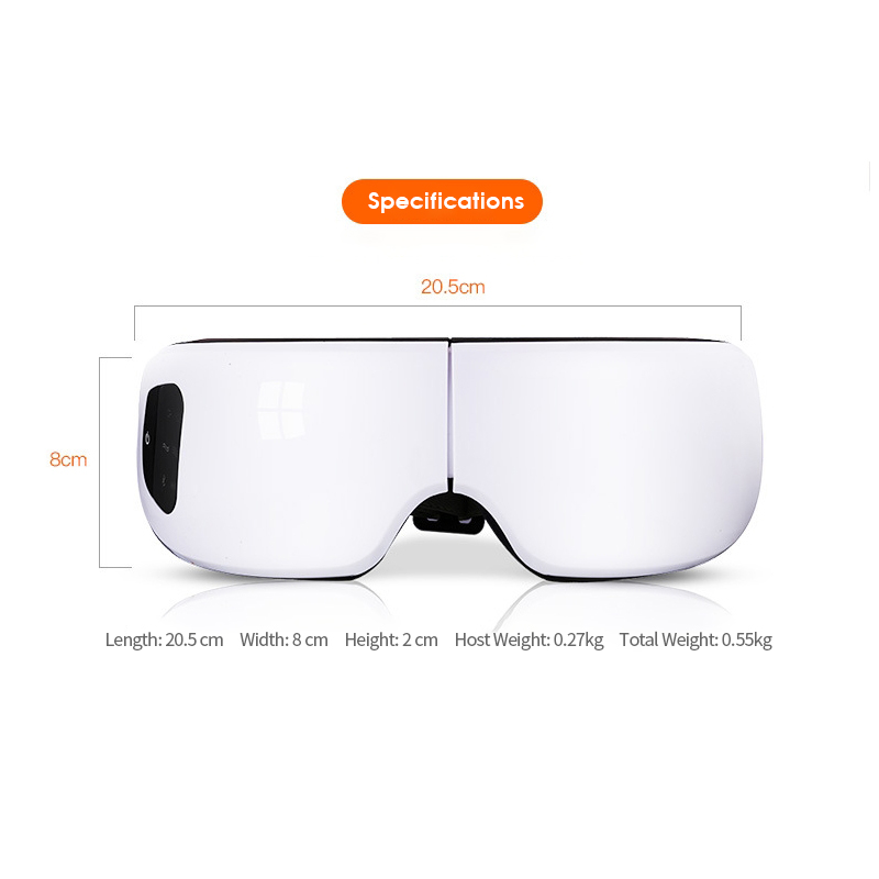 Smart Vibration Eye Massager Anti Wrinkles Eyes Massage Care Device Electric Hot Compress Therapy Glasses For Tired Eyes Pakistan