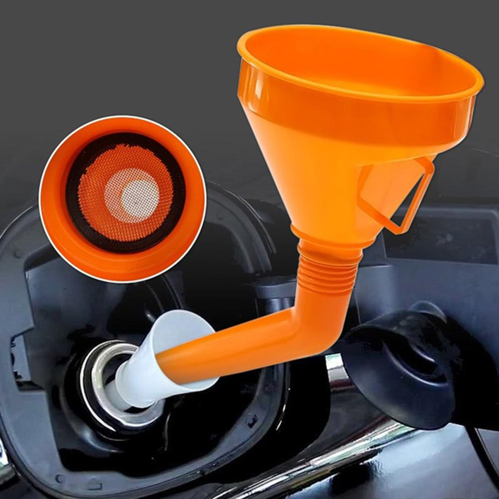 Car Filling Equipment Universal Plastic Motorcycle Refuel Gasoline Engine Oil Funnel With Filter Brake Liquid Filling Equipment