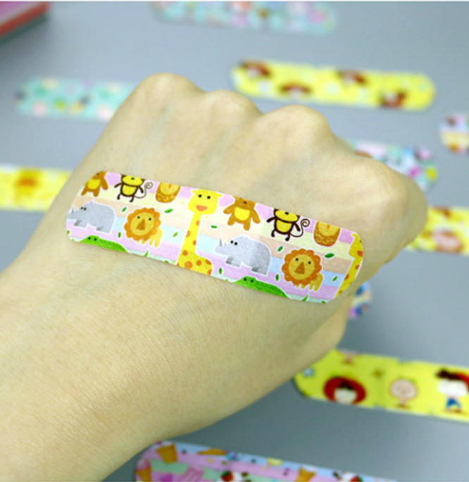 1 Box 120pcs Waterproof Wound Adhesive Bandages Cute Dustproof Breathable First Aid Medical Adhesive For Children Kids