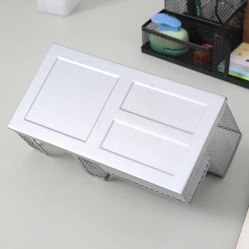 Metal desktop caneta titular escritório caixa de armazenamento lápis mesa malha organizador jr promoções