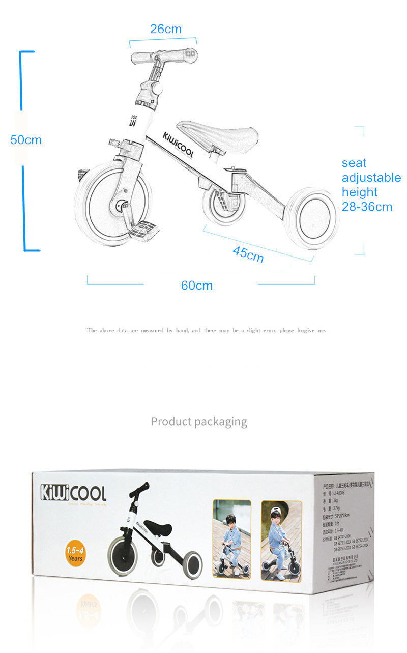 Hd6f5ffca773c4703befbde3b3d324268m 3 in 1 Kids Tricycle + Balance bike + Baby walker Child Push Bike Toddler Learn to Ride Bicycle Ride On Toy Boy Girl Xmas Gift