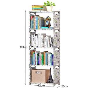 Image 5 - Đơn Giản Kệ Sách Lắp Ghép Sáng Tạo Lưu Trữ Kệ Để Sách Thực Vật Đồ Lặt Vặt DIY Kết Hợp Kệ Sàn Đứng Trẻ Em Tủ Sách