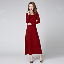 Plus Size 2020 Knitted Dress Women Autumn Winter Green Dresses Elegant Party Dress Slim Women's Clothing Vestidos WXF533(China)