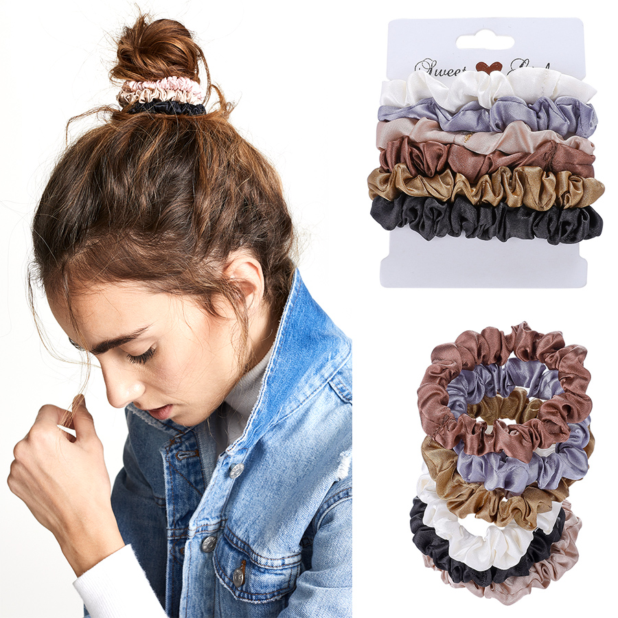 Haimeikang 6 Pcs/Lot Hair Scrunchies For Girls Elastic Hair Rubber Bands Accessories Gum For Tie Hair Ring Rope Ponytail Holder
