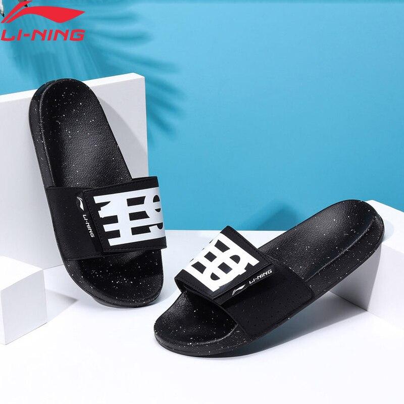 Li-Ning Women LN SLIPER Stylish Slippers Light Sandals Breathable Print LiNing Li Ning Sports Outdoors Shoes AGAP004 XWT1843