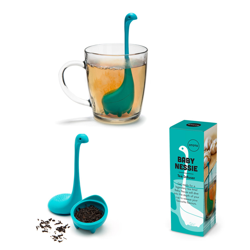 Infuser And Diffuser Silicone Tea Reusable Coffee Strainer Kitchen Accessories Tea Loch Ness Monster YORO