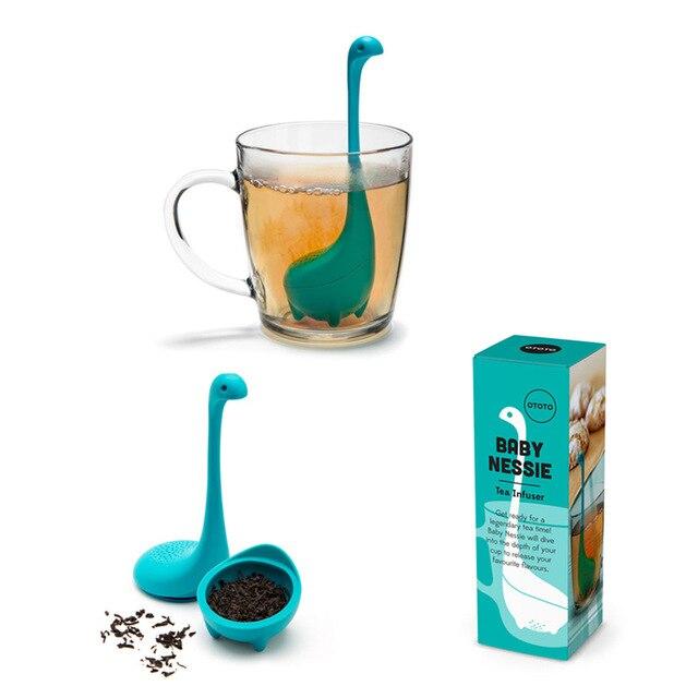 Zetgroep En Diffuser Siliconen Thee Herbruikbare Koffie Zeef Keuken Accessoires Thee Loch Ness Monster Yoro