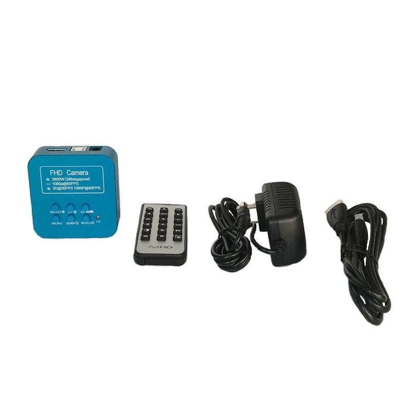 3.5X 90X Trinocular Stereo microscope magnifier zoom 38MP HDMI USB video microscopio Camera Jewelry phone pcb repair mat kit - 2