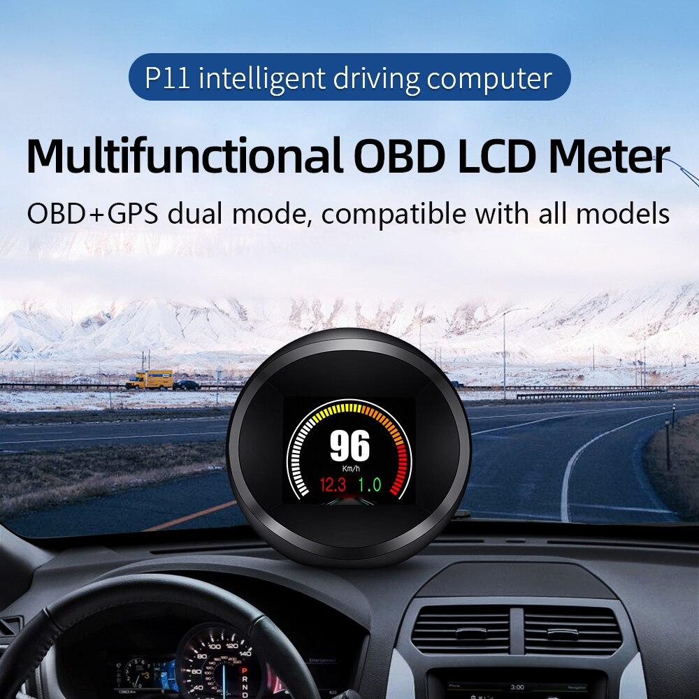 Купить автомобильный hud дисплей с головкой универсальный obd2 gps