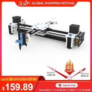 Image 1 - EleksMaker Mini XY 2 achsen CNC Stift Plotter DIY Laser Zeichnung Maschine Drucker 28*20cm Gravur Genauigkeit 0,1mm