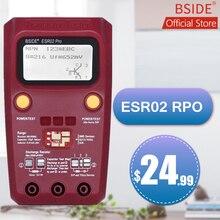 BSIDE ESR02PROดิจิตอลทรานซิสเตอร์SMDส่วนประกอบเครื่องทดสอบDIODE Triode Capacitanceตัวเหนี่ยวนำMultimeter Meter