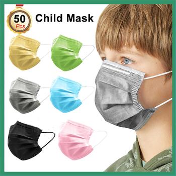 10 50 sztuk jednorazowe maska dla dzieci 3 warstwy filtr maski chirurgiczne dla dzieci a ochronne oddychający maski na usta dla dzieci maska medyczna tanie i dobre opinie NoEnName_Null 20182142581 Z Chin Kontynentalnych osobiste