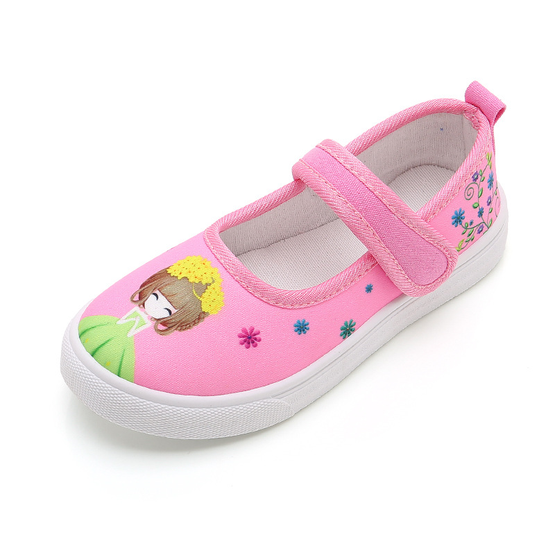 Children Canvas Shoes Toddler Girls Breathable Loafers Moccasins School Girls Casual Slip-on Tassel Flats Kids Fashion Sneakers