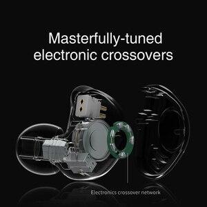 Image 3 - TRN V90 4BA + 1DD hibrid 5 sürücü üniteleri Metal kulak kulaklık IEM HIFI monitör koşu spor sahne çözünürlüğü 2Pin ayrılabilir V80
