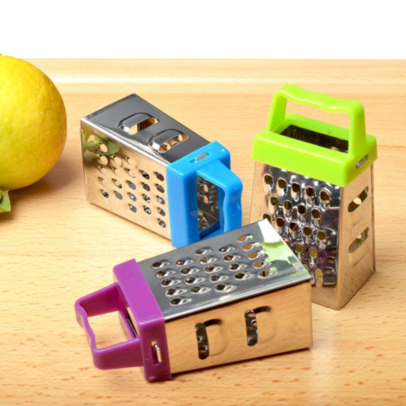1pc mini four-sided grater stainless steel planer multifunctional peel cutter fruit ginger garlic grater cooking kitchen gadget