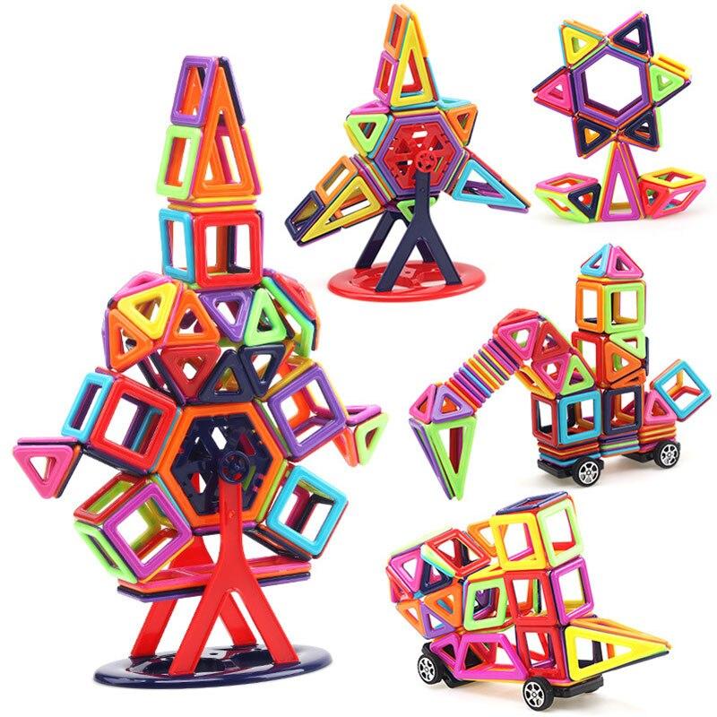 216 pièces taille Standard 3D Magnetics Designer Construction modèle jouets et briques de Construction bricolage blocs éducatifs magnétiques jouets