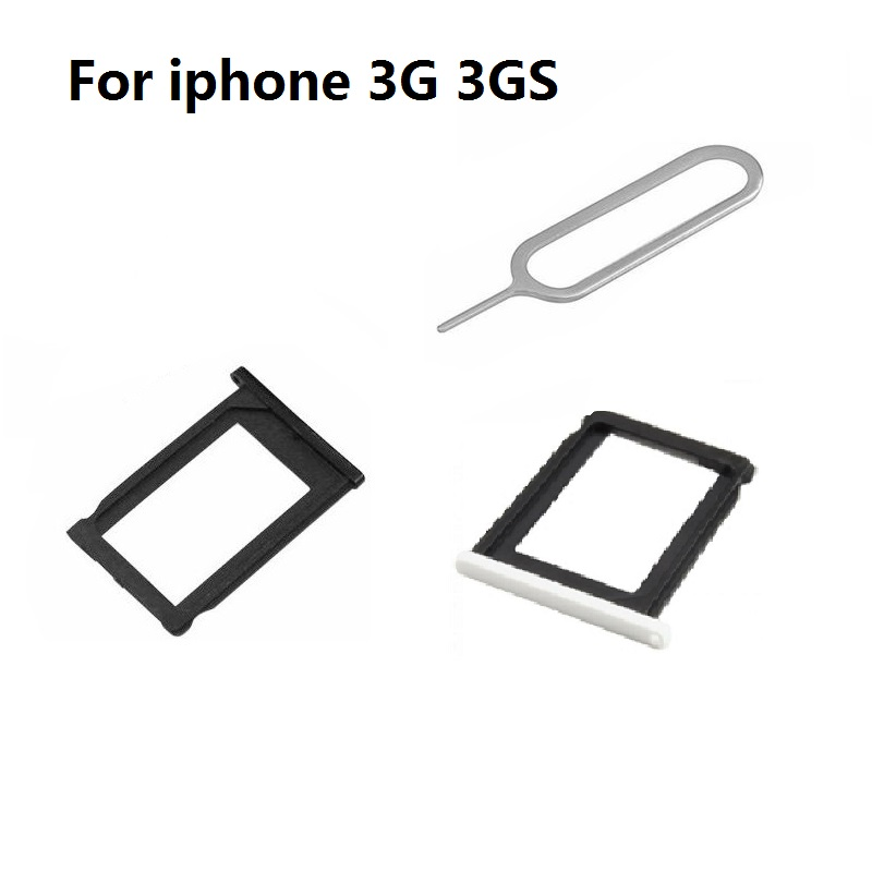 New Sim Card Tray Slot Holder+Eject Pin For IPhone 3 3GS 4 4S 5 5S SE 5C