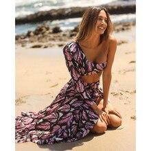 Sexy High Waist Bikini Long Sleeve Swimwear Women Swimsuit 2021 Women Biquini Ruffle Swimsuit Bathing Suit Female Beach Wear