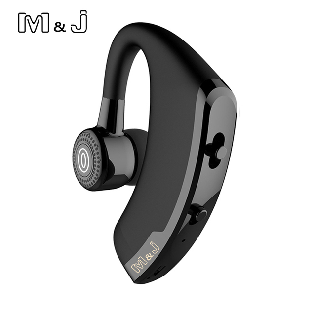 M&J V9 Handsfree Business Bluetooth Headphone With Mic Voice Control Wireless Bluetooth Headset For Drive Noise Cancelling
