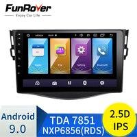 Funrover 2.5D+IPS android 9.0 car dvd gps navigation player For Toyota RAV4 Rav 4 2007 2011 car radio Multimedia stereo 4 core