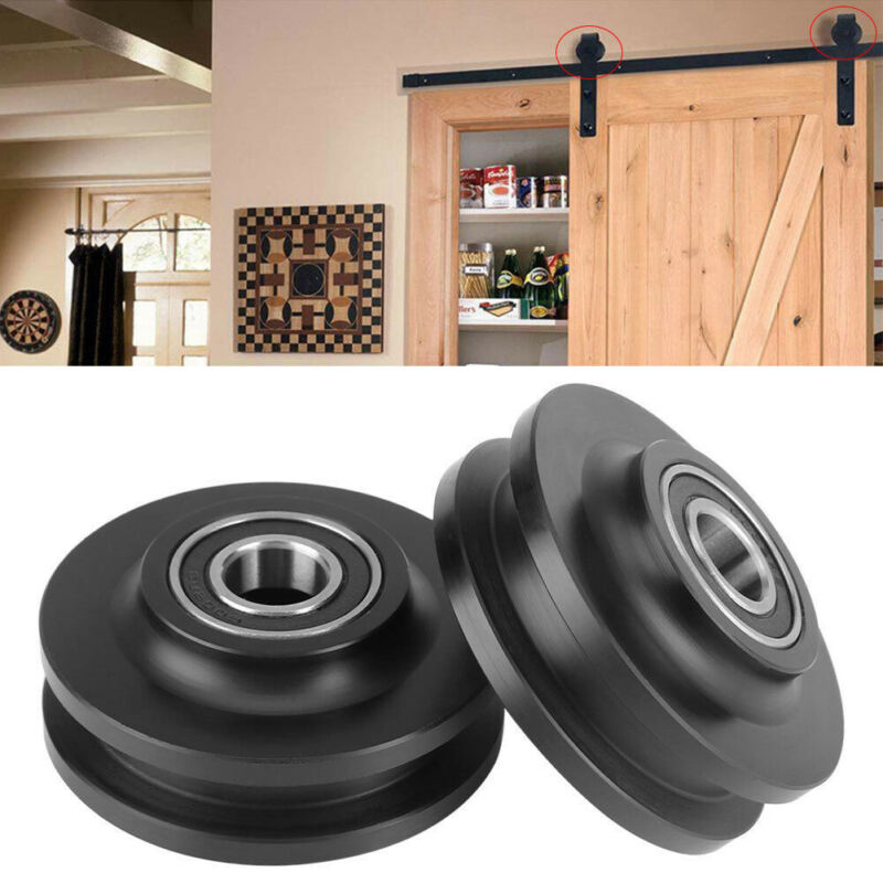 2018 Newest Hot POM Sliding Barn Door Wheel Closet Hardware Roller Cabinet Window Pulley Hook