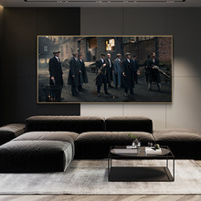 Classic Movie Gangster Movie European Style Dark Style Famous Scene Poster Mural Canvas Painting Home Decoration Painting