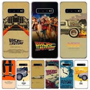 Filme clássico de volta ao futuro caso de telefone do vintage para samsung galaxy s10 s20 ultra nota 10 9 8 s9 s8 s7 j4 j6 j8 plus lite + p