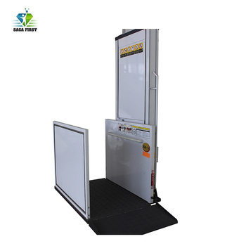 small wheelchair passenger elevator hydraulic vertical wheelchair lift
