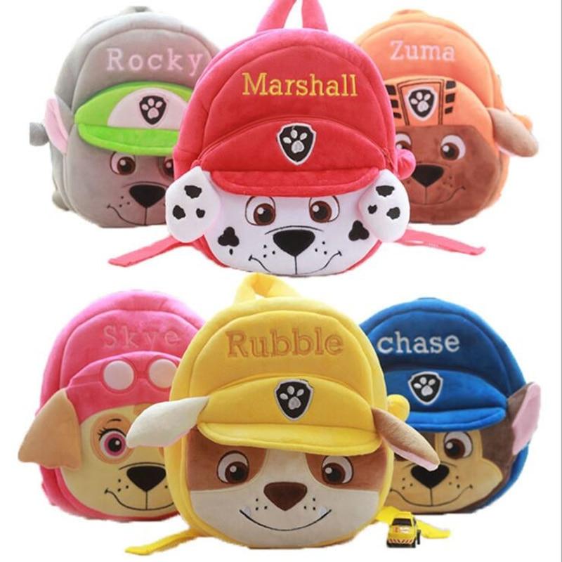 Brinquedo de pelúcia mochila pata patrulha cães saco dos desenhos animados crianças mini escola presentes das crianças do jardim infância menino menina mochila do bebê estudante sacos