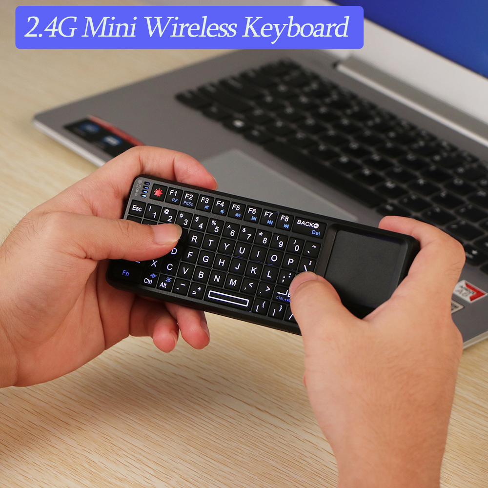 Original New Mini 2.4G Wireless Keyboard Touchpad Backlight For Smart TV For Samsung LG Panasonic Android Tv Box PC Laptop HTPC