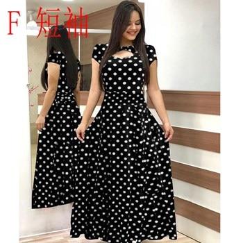 Elegant Spring Autumn Women Dress 2019 Casual Bohmia Flower Print Maxi Dresses Fashion Hollow Out Tunic Vestidos Dress Plus Size 5