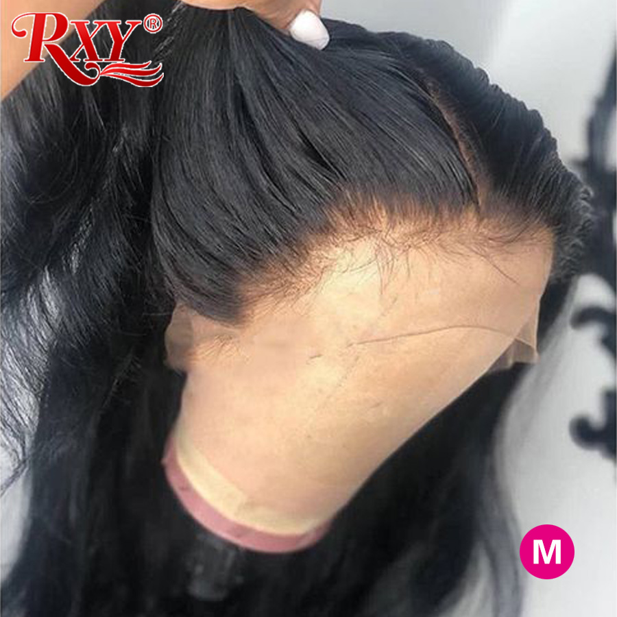 RXY 360 Lace Frontal Wigs Pre Plucked With Baby Hair Brazilian Wavy Wig 250 Density Lace Wig M Remy Lace Front Human Hair Wigs