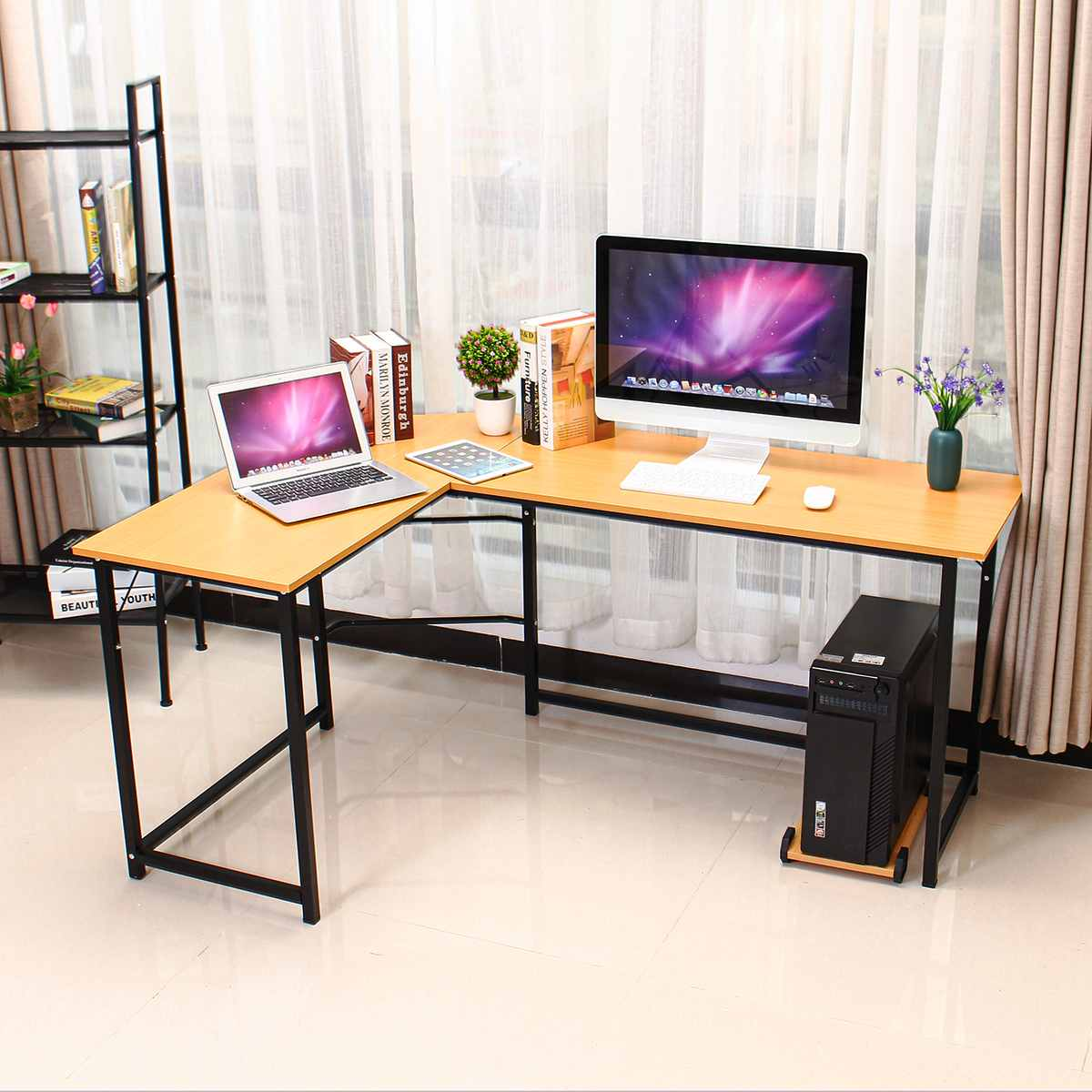 Wooden Office Computer Writing Desk Home Gaming Pc Furnitur L Shape Corner Study Computer Table Laptop Desk Laptop Table Buy At The Price Of 78 25 In Aliexpress Com Imall Com