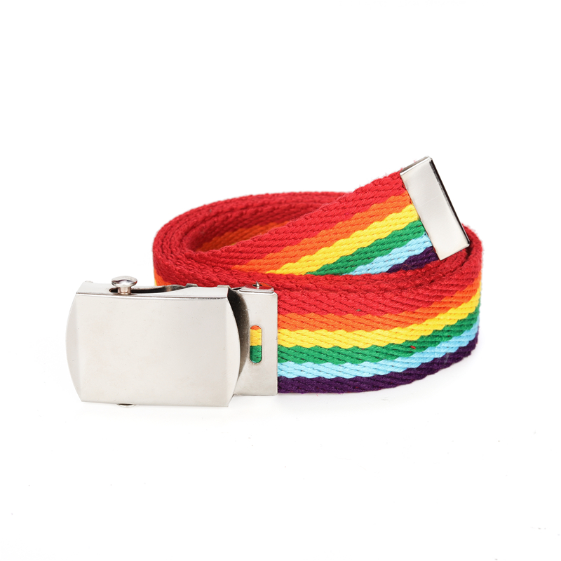 Rainbow Belt Trendy Colors Exquisite Waist Belt For Women Lady Pretty Canvas Thin Skinny Waist Belt Dress Accessory New 2020