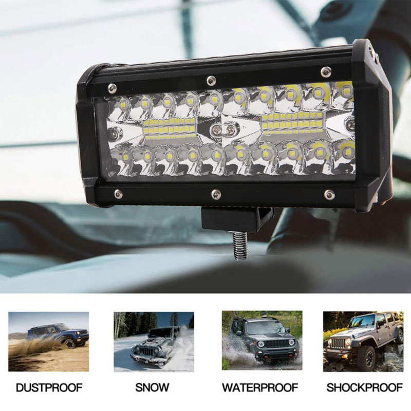 120W LED Work Light Bar Flood Beam Offroad Driving Fog Lamp SUV Car Truck Boat
