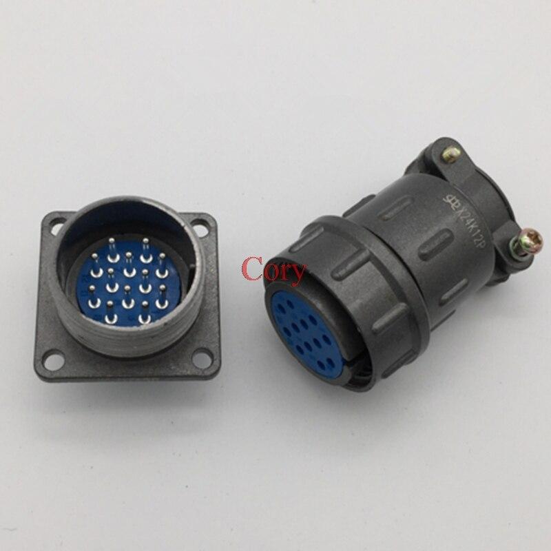 1PC Aviation Connector 24mm Plug Connector CX24 Circular Connector 12/19/20/26 Pin Male & Female Plug Socket