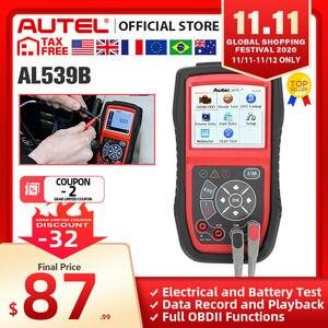 Image 1 - Autel AL539B OBD2 Scanner Code Reader Battery Tester Avometer for 12 Volts Diagnostic Tool Electrical Tester built in speaker