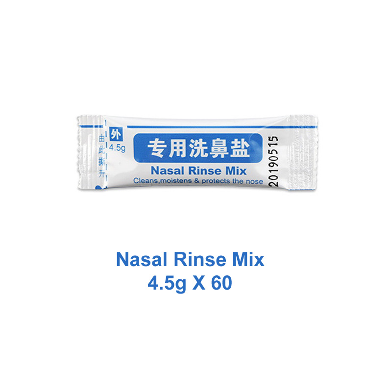 4.5g*60 Packets Nose Wash Salt For 500ml Bottle Nasal Rinse Mix Boxed Allergic Rhinitis Nasal Wash Cleaner Irrigator