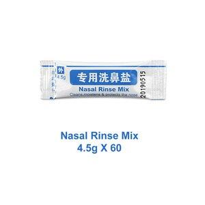 Image 1 - 4.5g * 60 paquets de sel de lavage du nez pour bouteille de 500ml mélange de rinçage Nasal en boîte rhinite allergique nettoyant pour le lavage Nasal irrigateur