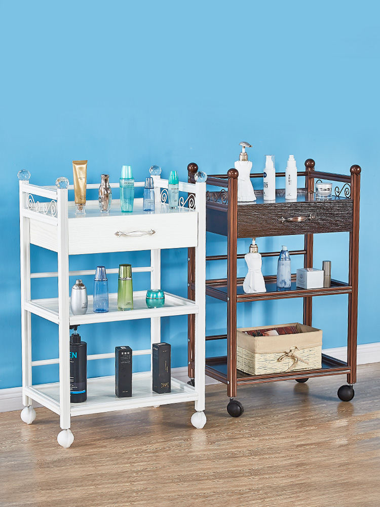 Natural detox rong che Multi-functional European Style Special Offer Closeout Beauty Salon Only Trolley Storage Shelf China Mobi