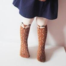 Хлопковые колготки с лисой для маленьких девочек, чулки, штаны, Чулочные изделия, колготки От 1 до 5 лет