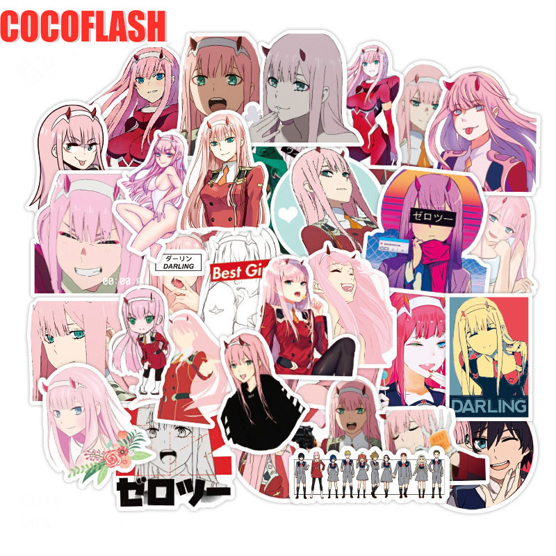 10/50 Pcs/pack DARLING In The FRANXX 002 Anime Stickers For Motorcycle Skateboard Refrigerator Laptop Bicycle Photo Car Sticker