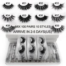 SHIDISHANGPIN 20/30/40 Bulk Fluffy Wispyขนตาปลอมขายส่ง3d Mink LashesมือธรรมชาติขนตาFaux Cilios